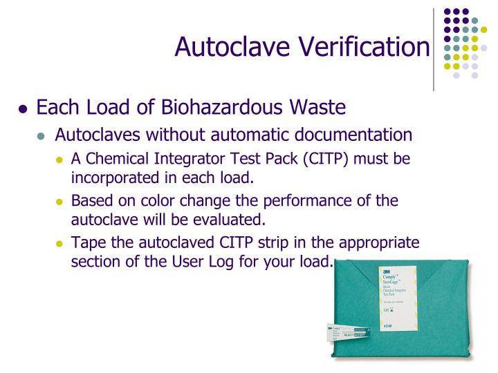 Autoclave Verification