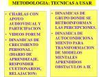 metodologia tecnicas a usar