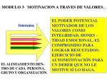 modulo 3 motivacion a traves de valores
