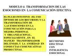 modulo 4 transformacion de las emociones en la comunicaci n efectiva