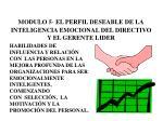 modulo 5 el perfil deseable de la inteligencia emocional del directivo y el gerente lider