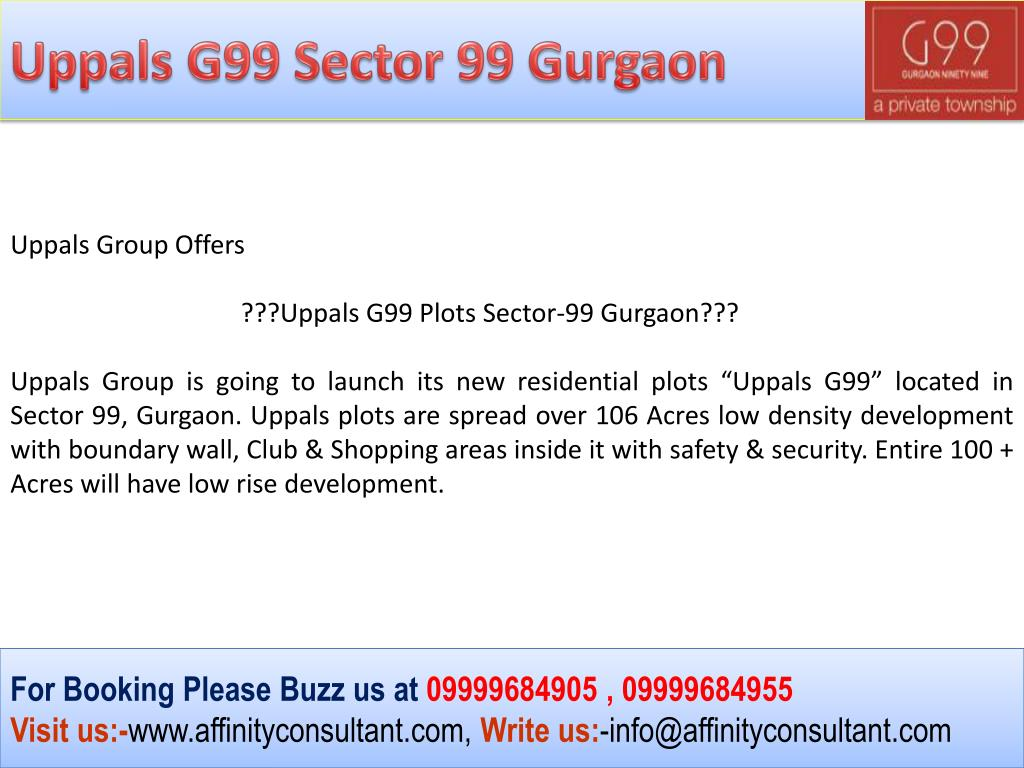 Uppals G99 Sector 99 Gurgaon