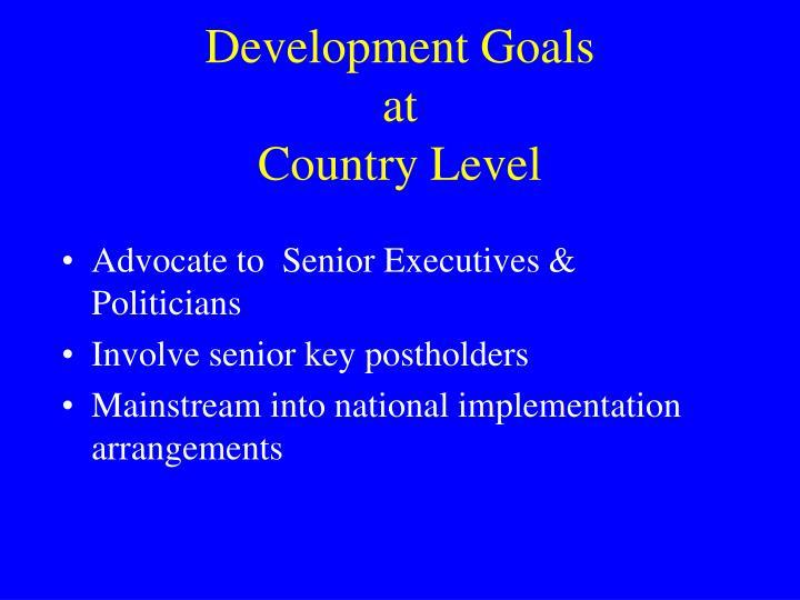 Development Goals