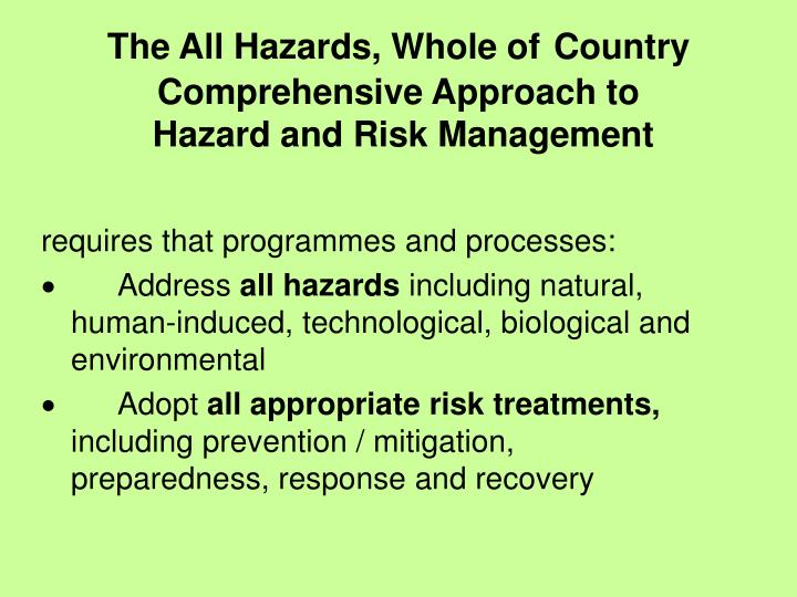 The All Hazards, Whole of
