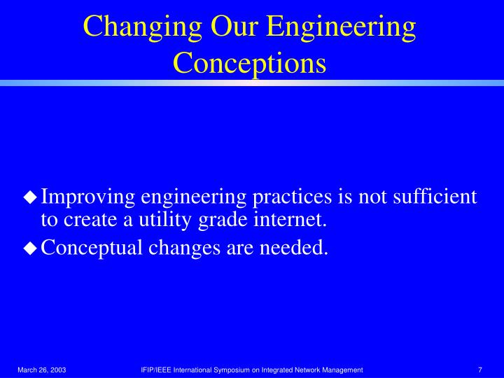 Changing Our Engineering Conceptions