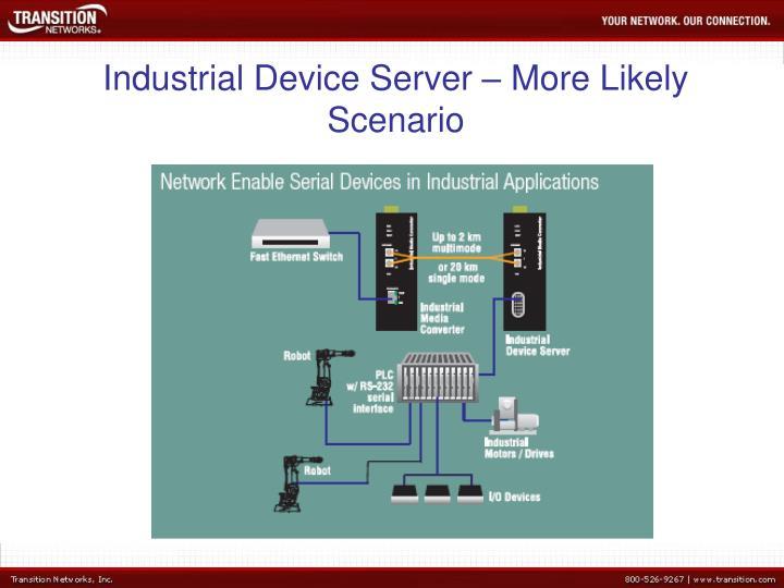 Industrial Device Server – More Likely Scenario