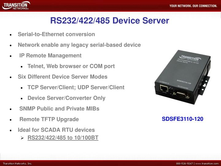 RS232/422/485 Device Server