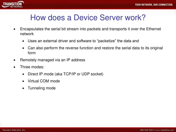 How does a Device Server work?