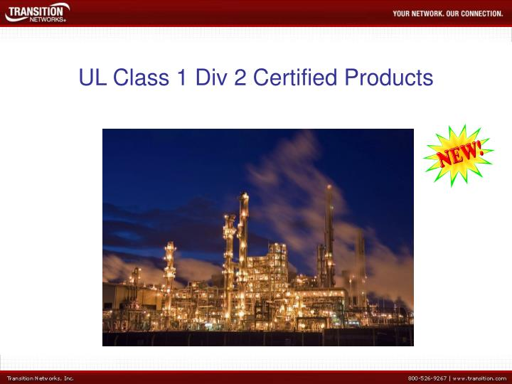 Ul class 1 div 2 certified products