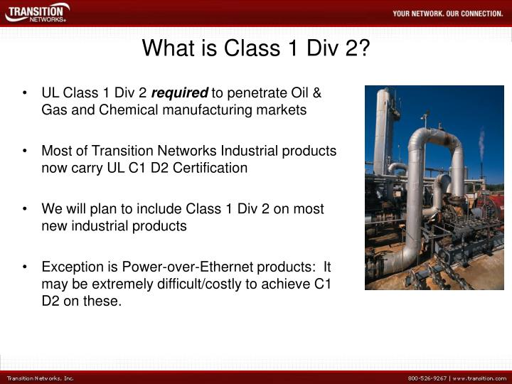 What is class 1 div 21