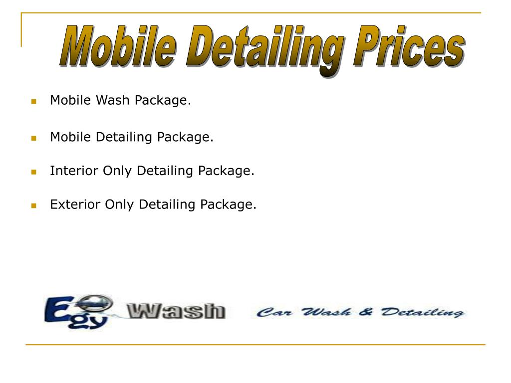 Mobile Detailing Prices