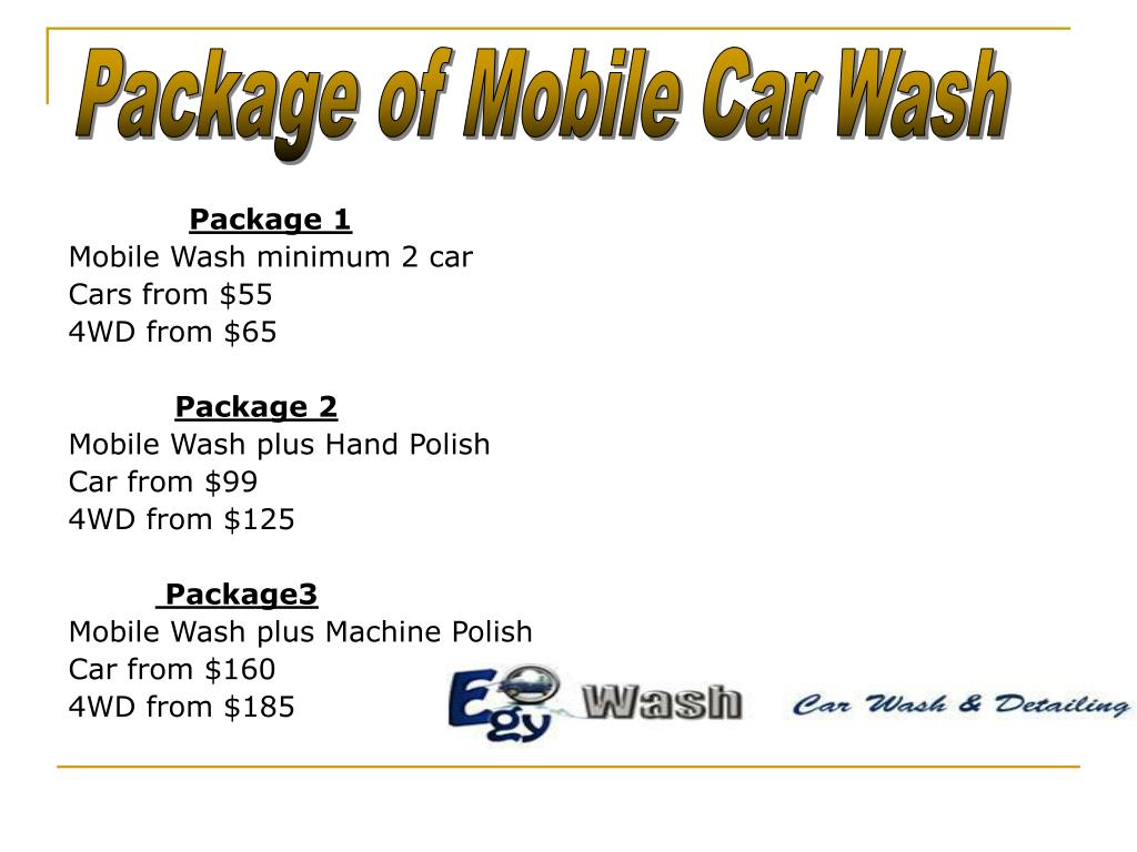 Package of Mobile Car Wash