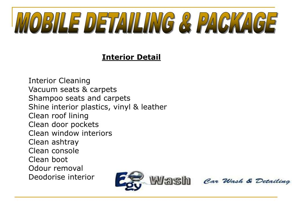 MOBILE DETAILING & PACKAGE