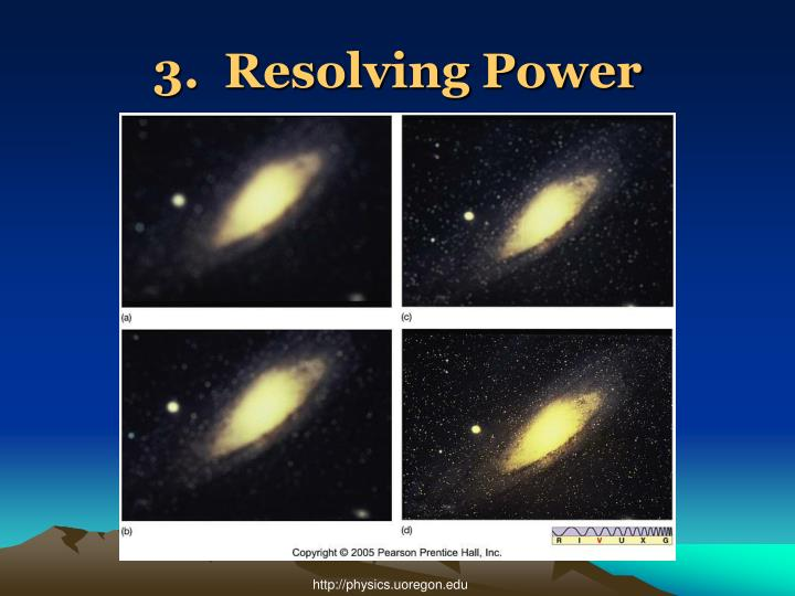3.  Resolving Power