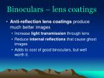 binoculars lens coatings