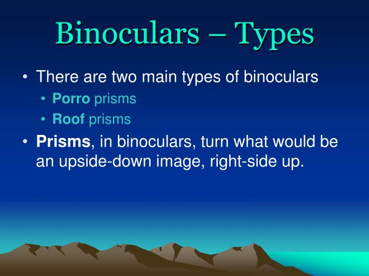 Binoculars – Types