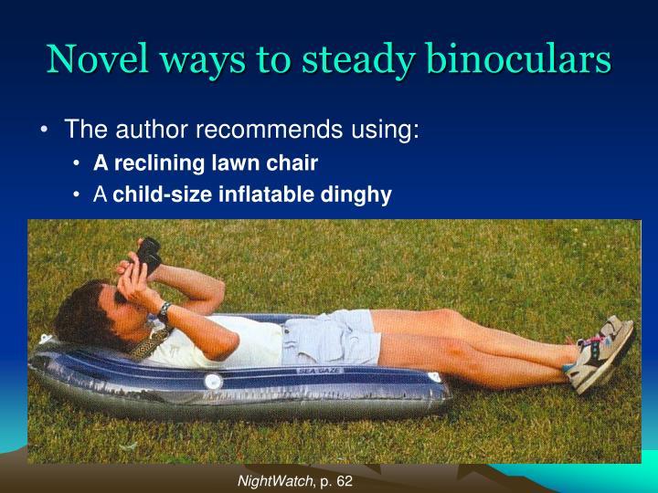 Novel ways to steady binoculars