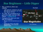 star brightness little dipper