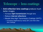 telescope lens coatings