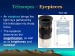 telescopes eyepieces