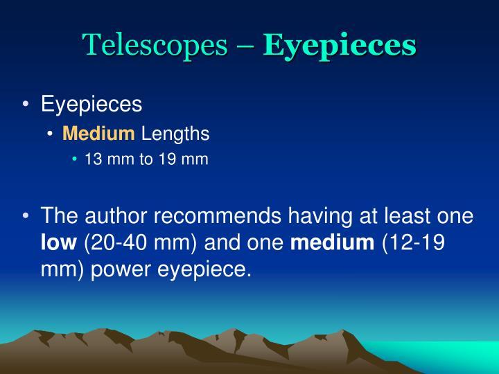 Telescopes –