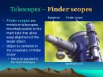 telescopes finder scopes