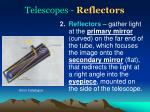 telescopes reflectors