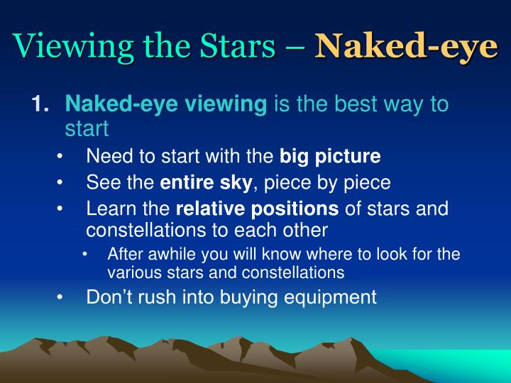 Viewing the Stars –