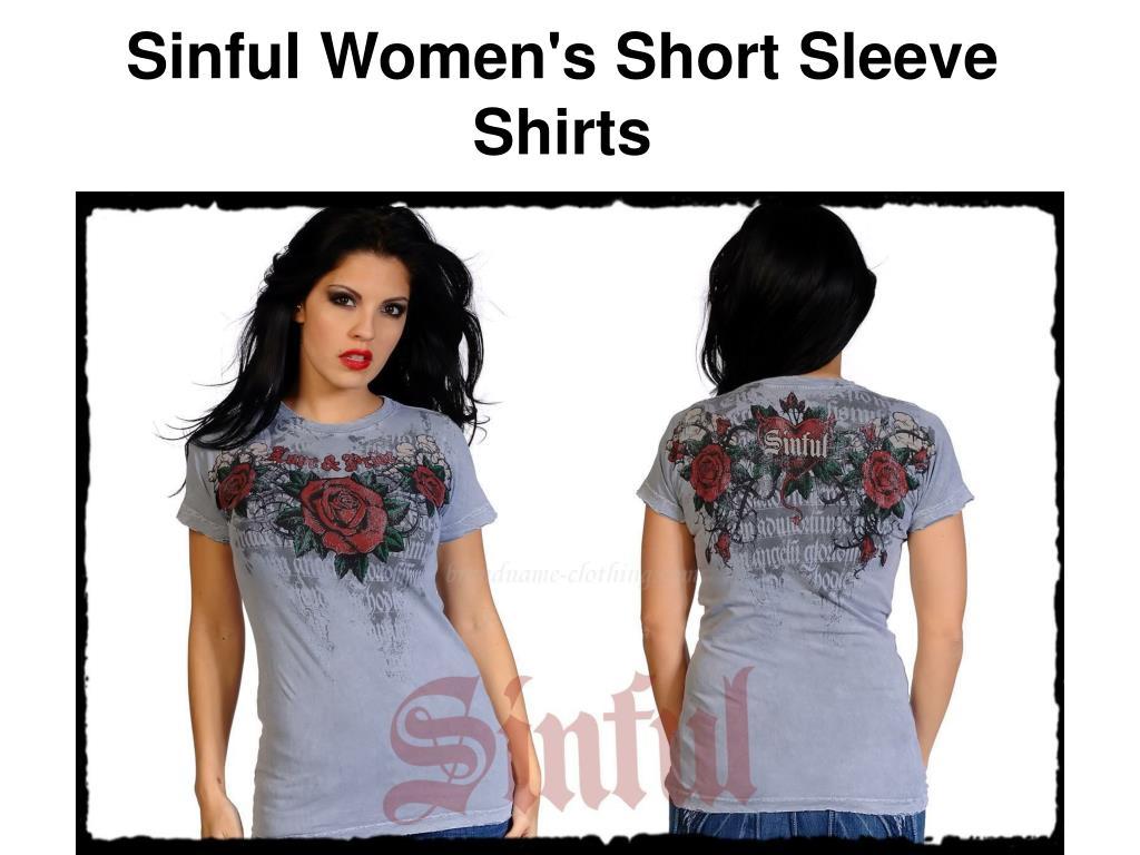 Sinful Women's Short Sleeve Shirts