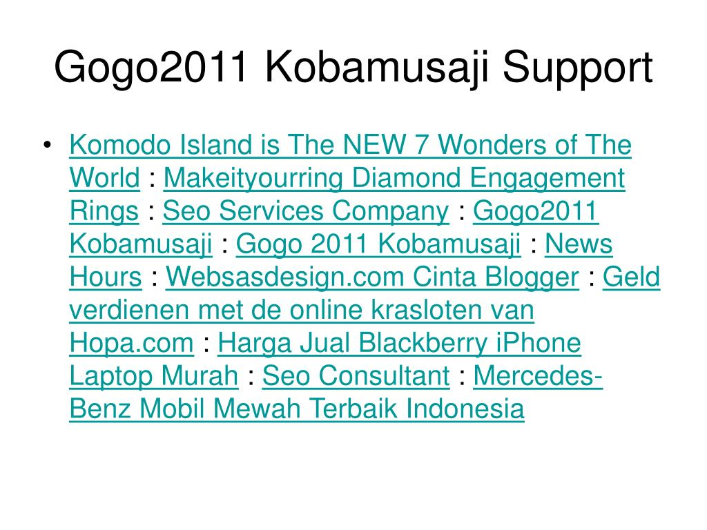 Gogo2011 Kobamusaji Support