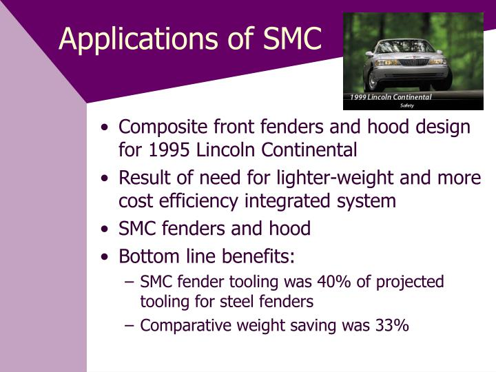 Applications of SMC