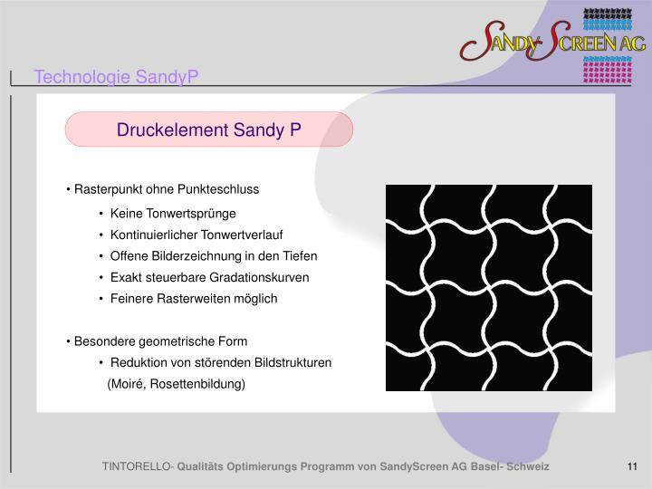 Technologie SandyP