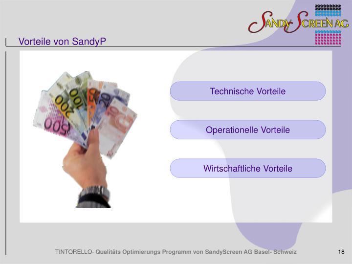 Vorteile von SandyP