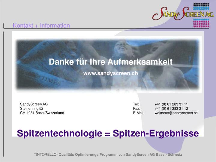 Kontakt + Information