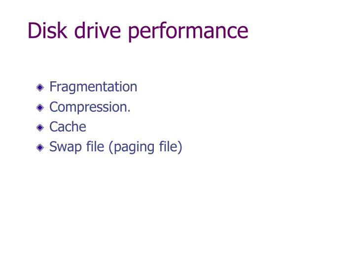 Disk drive performance
