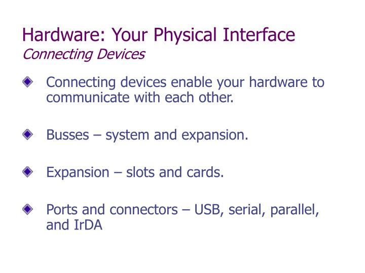 Hardware: Your Physical Interface