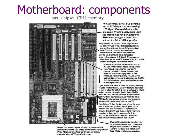 Motherboard: components