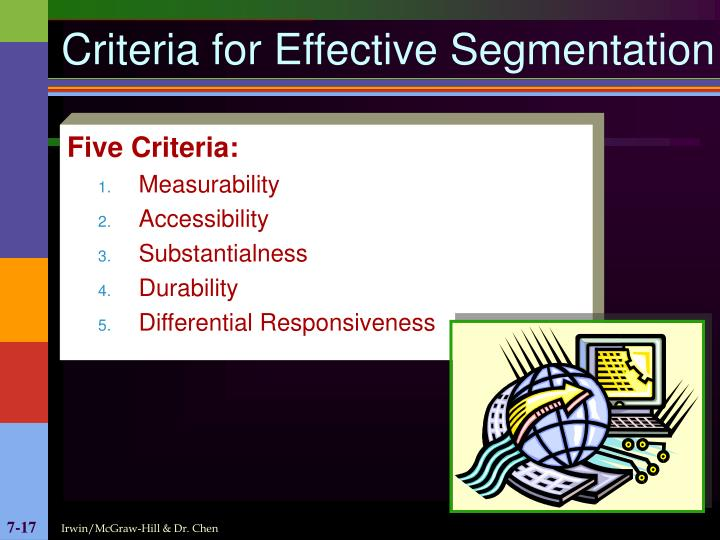 Criteria for Effective Segmentation