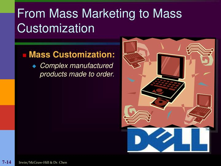 From Mass Marketing to Mass Customization