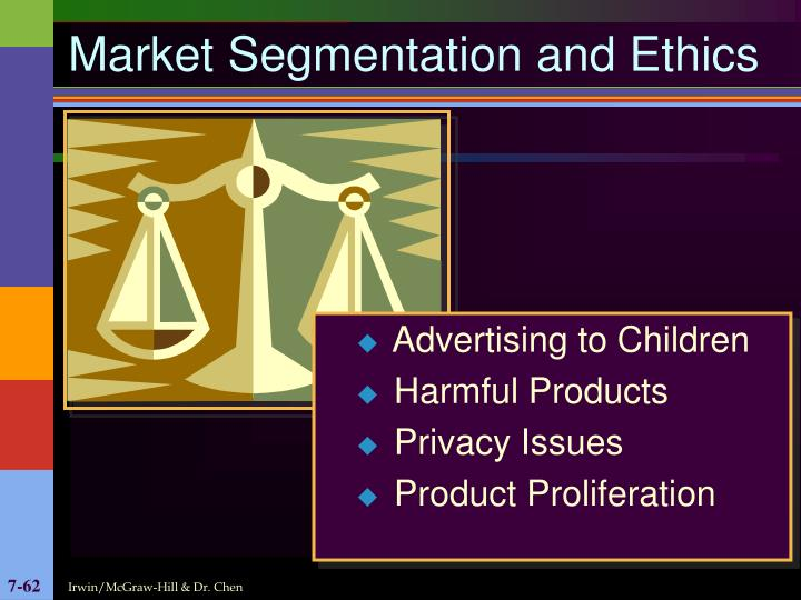 Market Segmentation and Ethics