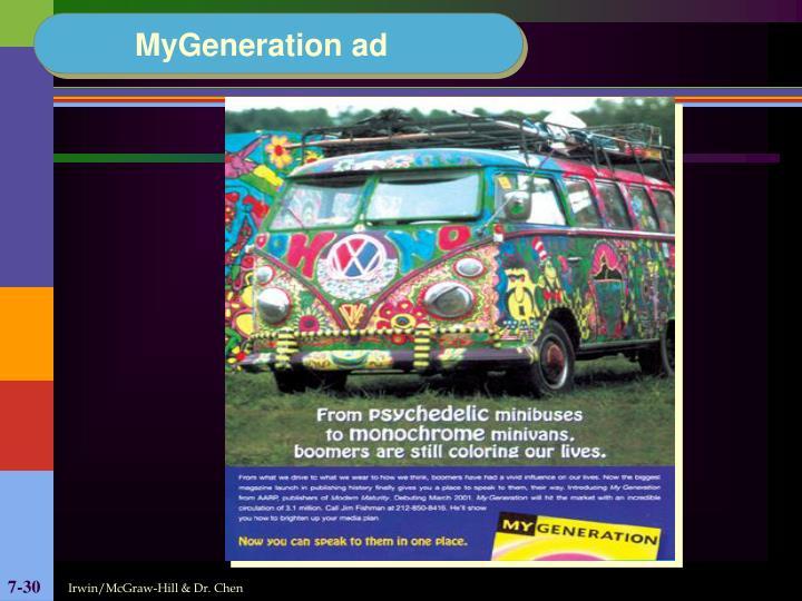 MyGeneration ad