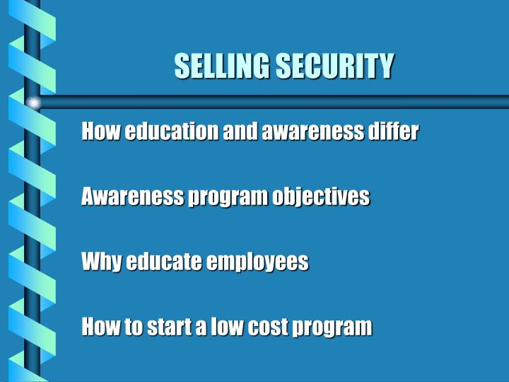 Selling security1