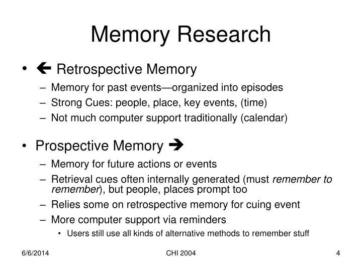 Memory Research