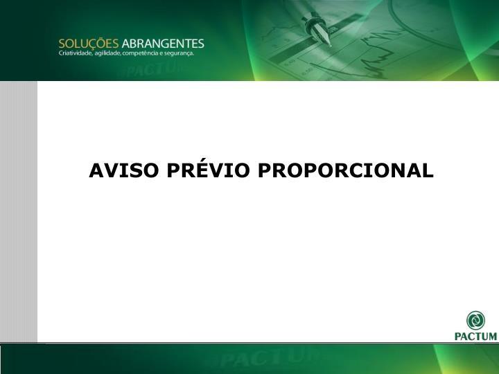 AVISO PRVIO PROPORCIONAL