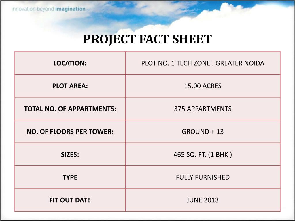 PROJECT FACT SHEET