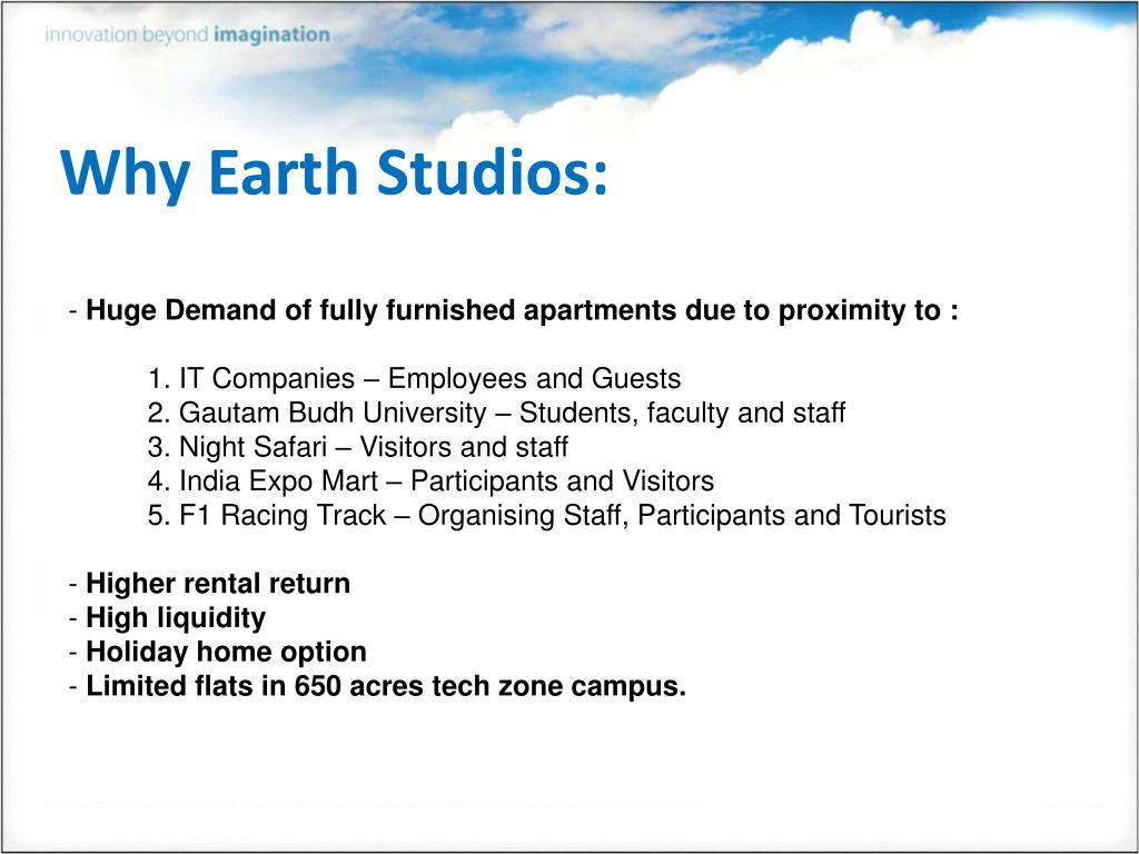 Why Earth Studios: