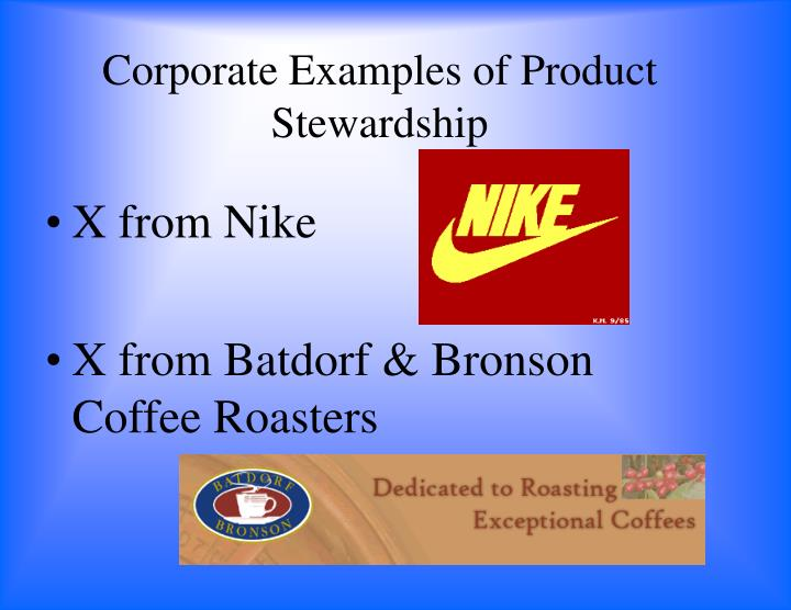 Corporate Examples of Product Stewardship