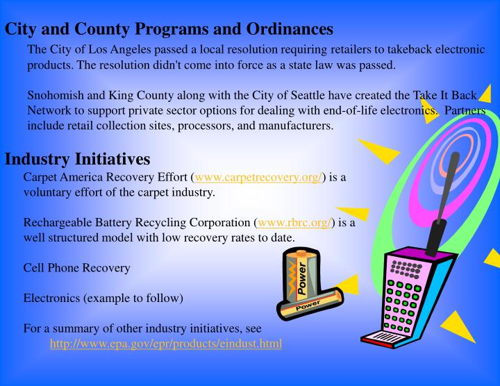 City and County Programs and Ordinances