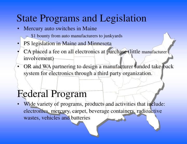 State Programs and Legislation