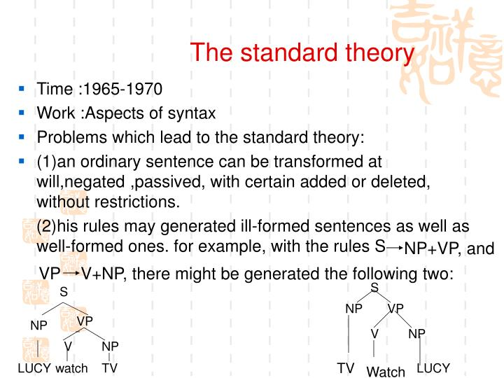 The standard theory